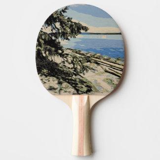 Raquete Para Ping-pong Estilo pacífico do woodblock da praia