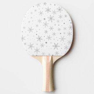 Raquete Para Ping Pong Floco de neve da cintilação - cinza & Branco de