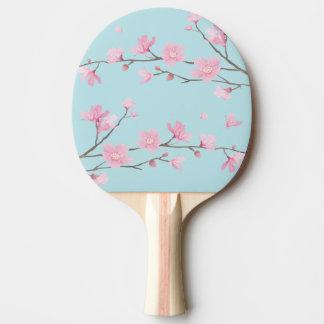 Raquete Para Ping Pong Flor de cerejeira - azul-céu