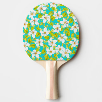 Raquete Para Ping Pong Floral branco