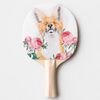 Raquete Para Ping-pong Foxy feliz e rosas
