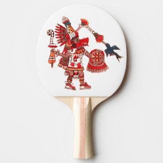 Raquete Para Ping Pong Guerreiro asteca do shaman da dança