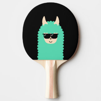 Raquete Para Ping-pong Lama legal Emoji do Peekaboo