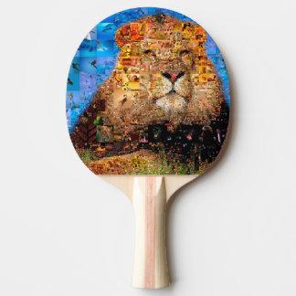 Raquete Para Ping-pong leão - colagem do leão - mosaico do leão - leão