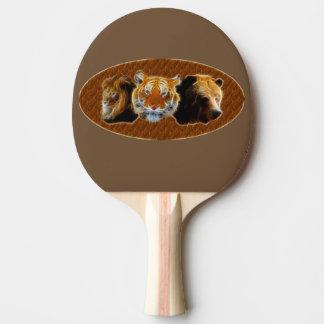 Raquete Para Ping Pong Leão e tigre e urso