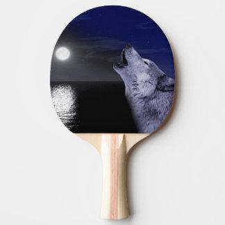 Raquete Para Ping-pong Lobo de mar - lobo da lua - Lua cheia - lobo