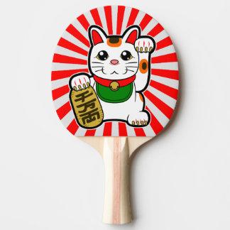 Raquete Para Ping-pong Maneki Neko: Gato afortunado japonês