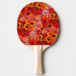 Raquete Para Ping Pong Margaridas encarnados ricas do buquê brilhante