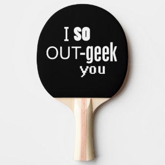 Raquete Para Ping-pong Mim assim Para fora-geek você