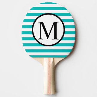 Raquete Para Ping-pong Monograma simples com as listras horizontais do