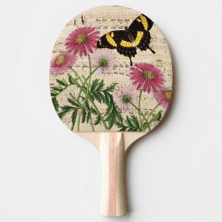 Raquete Para Ping Pong Música da borboleta da margarida