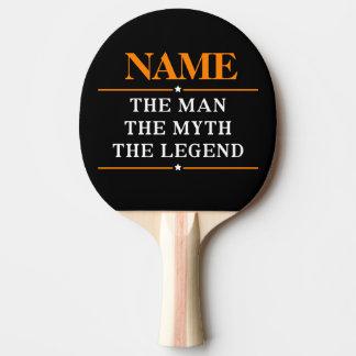 Raquete Para Ping-pong Nome personalizado o homem o mito a legenda