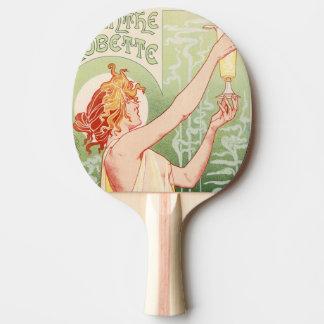Raquete Para Ping-pong O absinto Robette - poster vintage do álcool