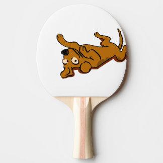 Raquete Para Ping Pong O cão feliz dos desenhos animados está