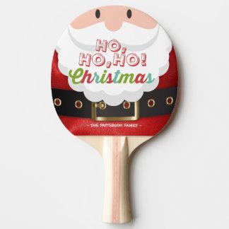Raquete Para Ping Pong O feliz ano novo do Natal do terno de Papai Noel