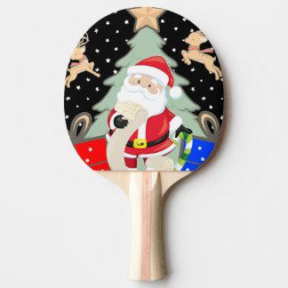 Raquete Para Ping-pong O papai noel tem uma lista