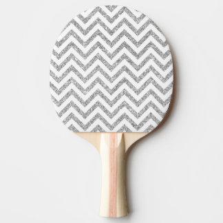 Raquete Para Ping-pong O ziguezague de prata do brilho listra o teste