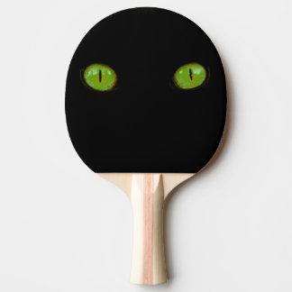 Raquete Para Ping Pong Olhos de gato verdes - pá de Pong do sibilo