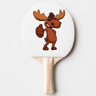 Raquete Para Ping Pong Ondulação bonito dos desenhos animados dos alces