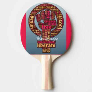 Raquete Para Ping-pong os direitos das mulheres aumentaram o punho 2017