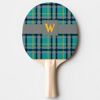Raquete Para Ping-pong Pá azul e alaranjada de Pong do sibilo da xadrez