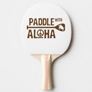 Raquete Para Ping Pong Pá com Aloha - pá de Pong do sibilo - a tartaruga