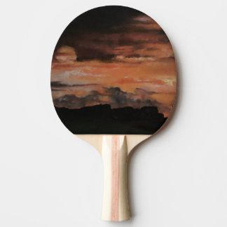Raquete Para Ping Pong Pá do ténis de mesa do por do sol 4