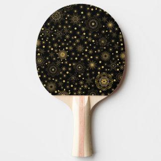 Raquete Para Ping-pong Pá dourada de Pong do sibilo do teste padrão