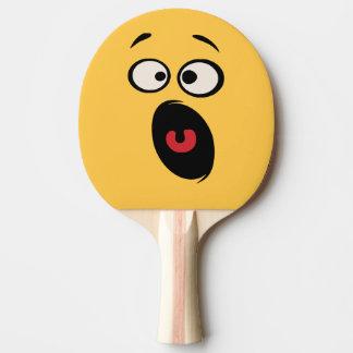 Raquete Para Ping Pong Pá engraçada Scared de Pong do sibilo da cara