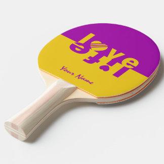 Raquete Para Ping-pong Pá feita sob encomenda do pong do sibilo da VIDA