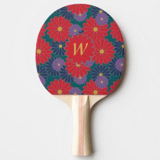 Raquete Para Ping Pong Pá floral de Pong do sibilo da queda Splashy