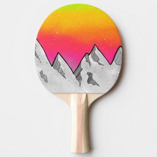 Raquete Para Ping-pong Paisagem da cena da montanha