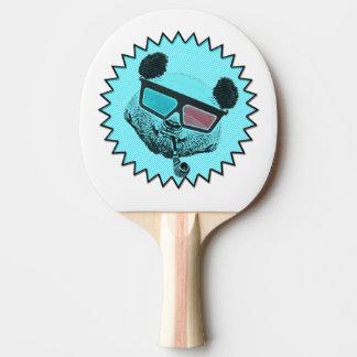 Raquete Para Ping Pong Panda retro engraçada