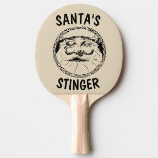 Raquete Para Ping Pong Pás da palmada do Natal. O STINGER DO PAPAI NOEL