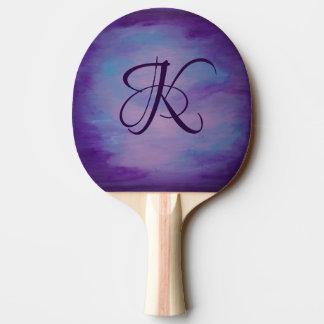 Raquete Para Ping-pong Pastel azul do roxo | do rosa Flighty do monograma