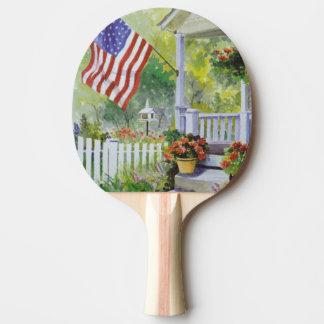 Raquete Para Ping-pong Pátio de entrada coberto colonial de bandeira