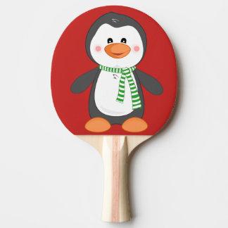 Raquete Para Ping-pong pinguim do Natal