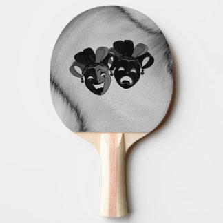 Raquete Para Ping-pong Prata das máscaras do bobo da corte do teatro da