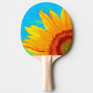 Raquete Para Ping-pong Quadrado de Van Gogh do girassol