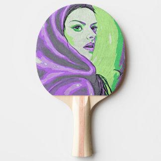 Raquete Para Ping Pong roxo do woodblock da senhora