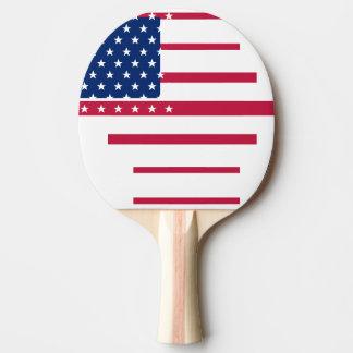 Raquete Para Ping-pong Sibilo patriótico Pong do ténis de mesa da