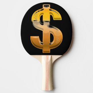 Raquete Para Ping-pong Sinal de dólar do inclinação de Brown