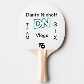 Raquete Para Ping Pong (T6) Pá de Dante Niehoff Vlogs