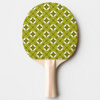 Raquete Para Ping-pong Teste padrão geométrico do verde de mostarda e o