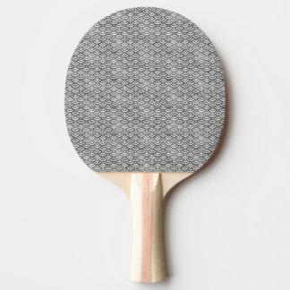 Raquete Para Ping Pong Teste padrão preto e branco do Pastel da sereia