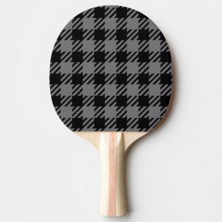 Raquete Para Ping Pong Teste padrão preto e cinzento da xadrez