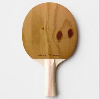 Raquete Para Ping-pong textura de madeira rústica/grões de madeira