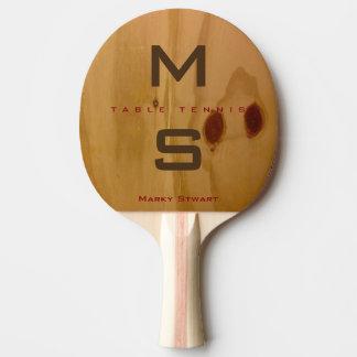 Raquete Para Ping-pong textura de madeira rústica/grões de madeira com