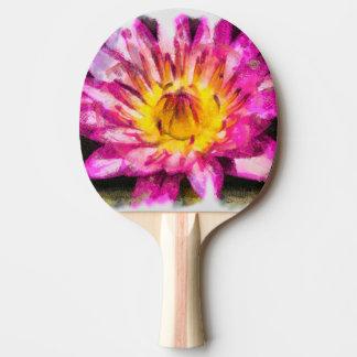 Raquete Para Ping Pong Tinta roxa da aguarela do lírio de água