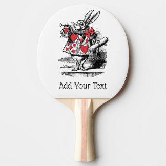 Raquete Para Ping-pong Trompetista branca Alice da corte do coelho no
